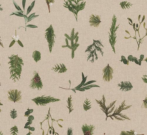 Decostoffen Planten linnenlook stof