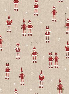 Kerstmannen & vrouwen linnenlook