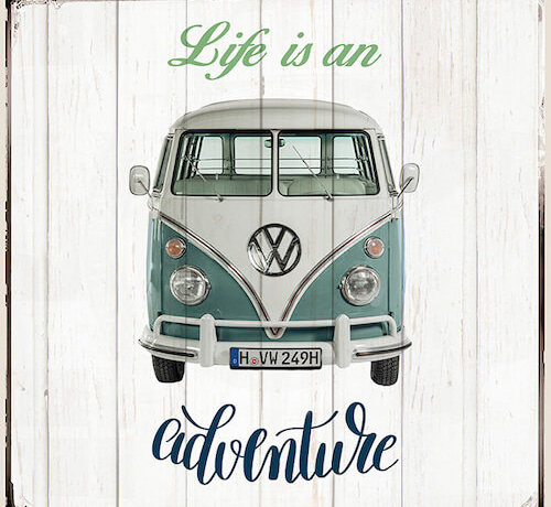 Decostoffen Volkswagen life is an adventure kussenpanel