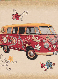 Volkswagen bus hippie kussenpanel