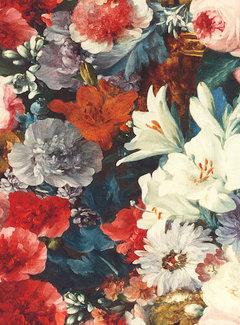 Rode bloemen digitale print