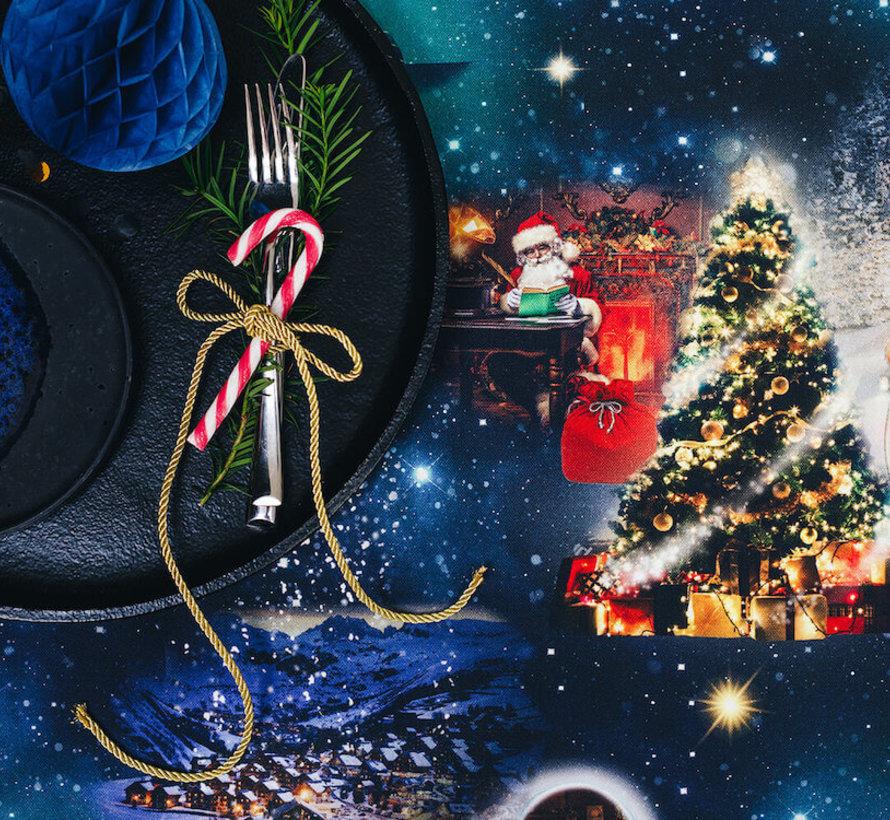Kerstmis digitale print stof