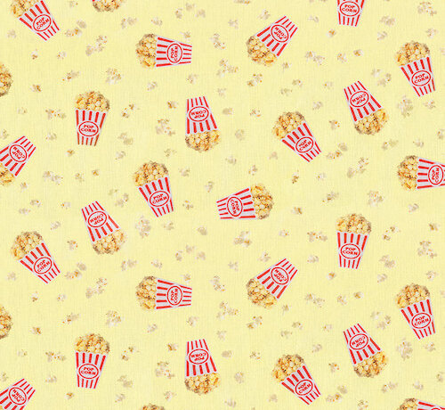 Decostoffen Popcorn digitale print stof