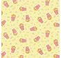 Popcorn digitale print stof