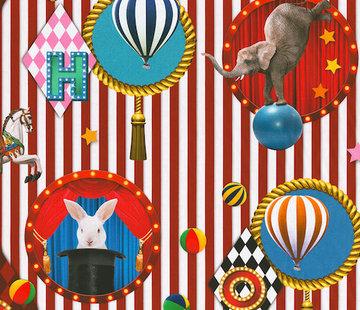 Decostoffen Circus digitale print