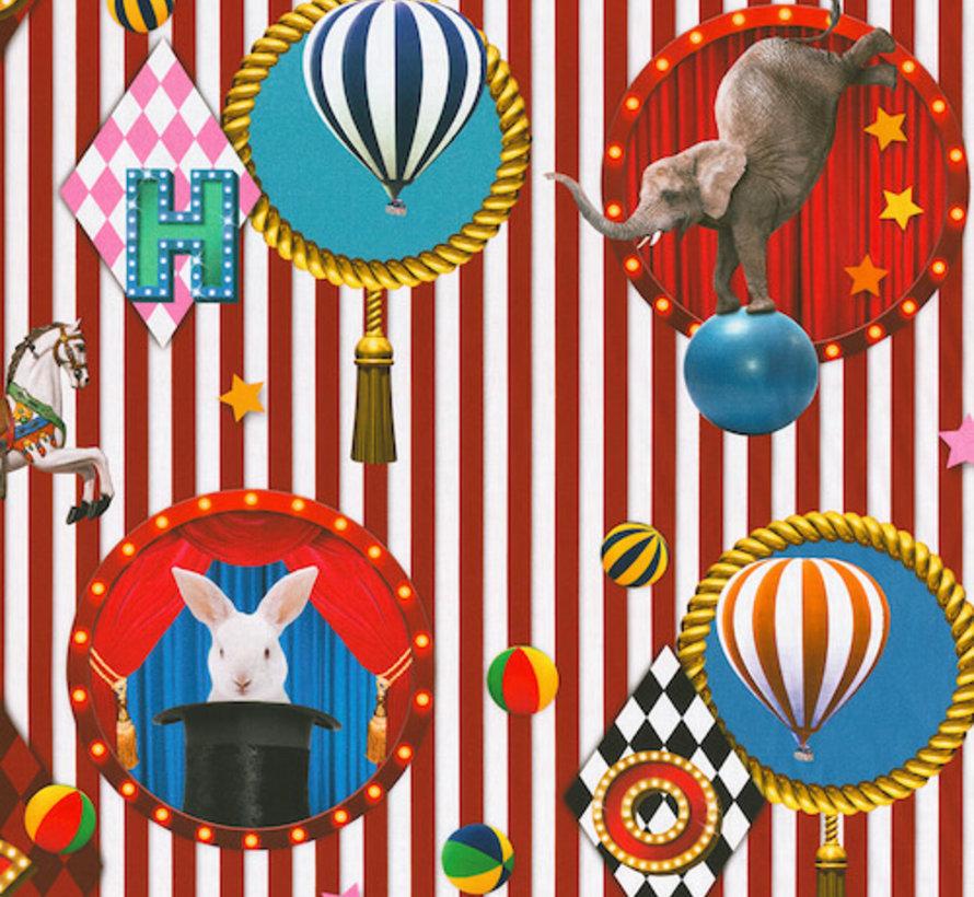 Circus digitale print stof