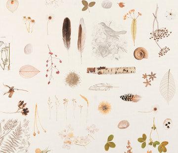 Decostoffen Veren & natuur digitale print