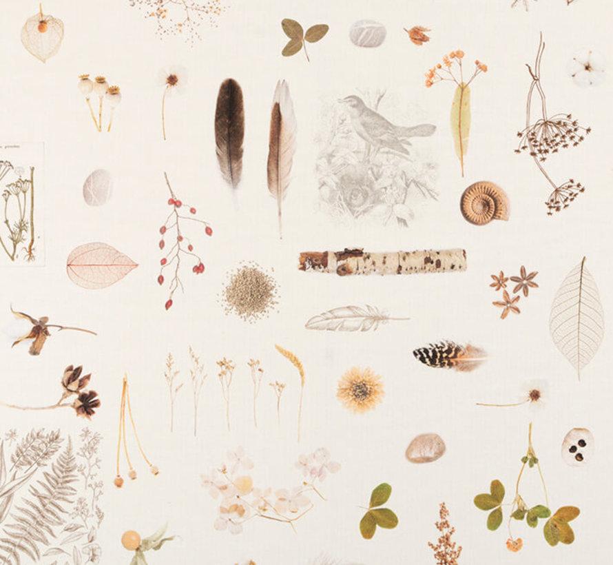 Veren & natuur digitale print stof