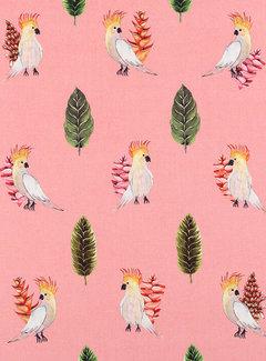 Papegaai roze digitale print