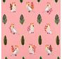 Papegaai roze digitale print stof