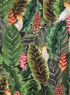 Botanisch papegaai digitale print