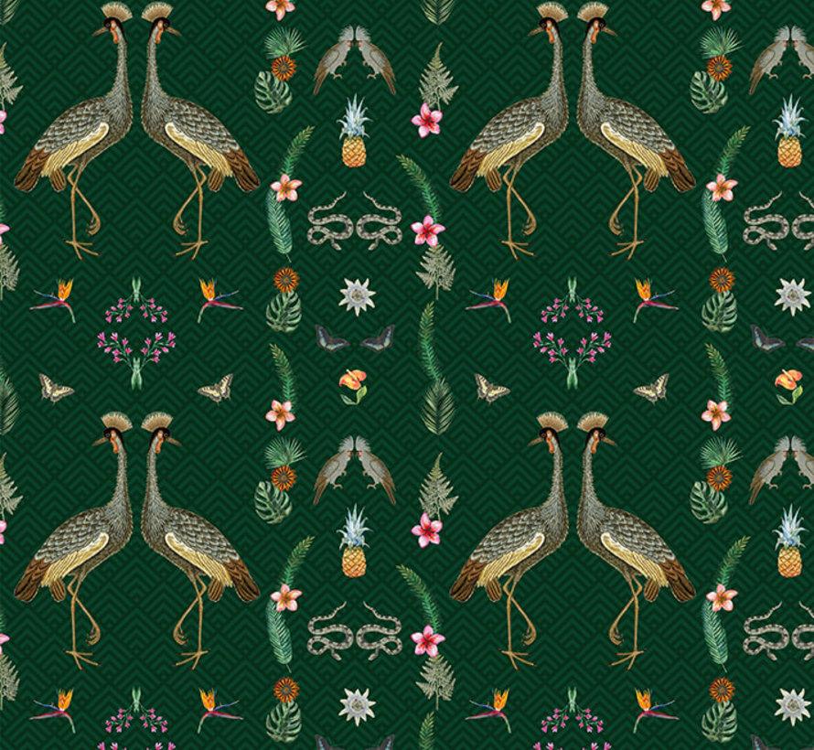 Kraanvogel digitale print stof