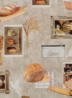Decostoffen Brood digitale print