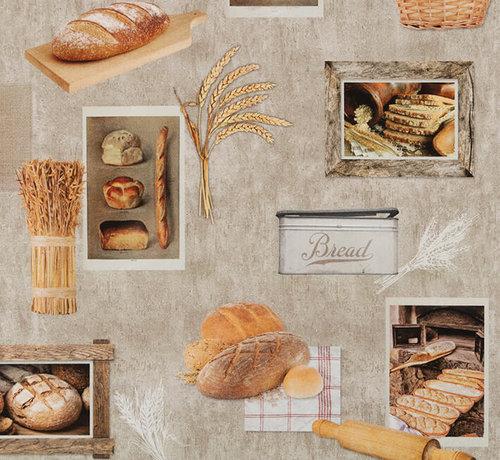 Decostoffen Brood digitale print stof