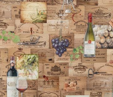 Decostoffen Wijn etiketten digitale print