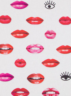 Decostoffen Lippen digitale print