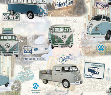 Decostoffen Volkswagen bus digitale print