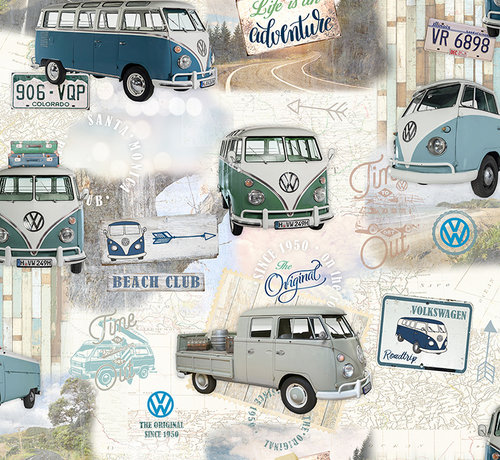 Decostoffen Volkswagen bus digitale print