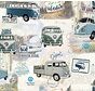 Volkswagen bus digitale print