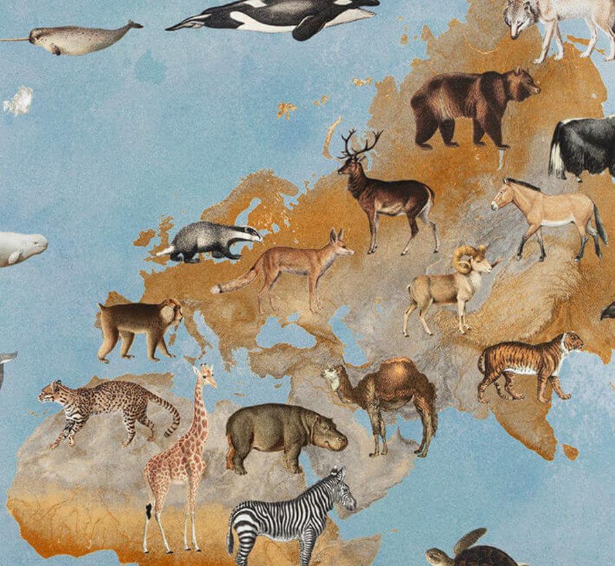Wereldkaart - digitale print