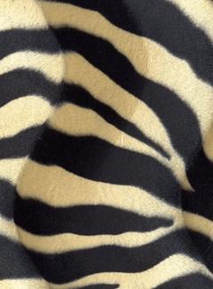 Zebraprint zand velboa