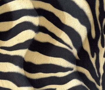 Decostoffen Zebraprint zand velboa