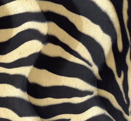 Decostoffen Zebraprint zand velboa stof