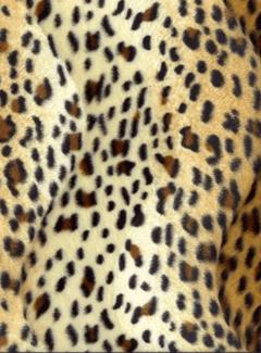 Decostoffen Panterprint licht goud velboa