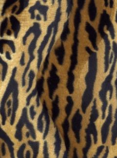 Tijgerprint bruin velboa