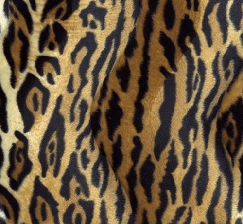 Decostoffen Tijgerprint bruin velboa stof