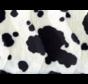 Koeienprint velboa stof