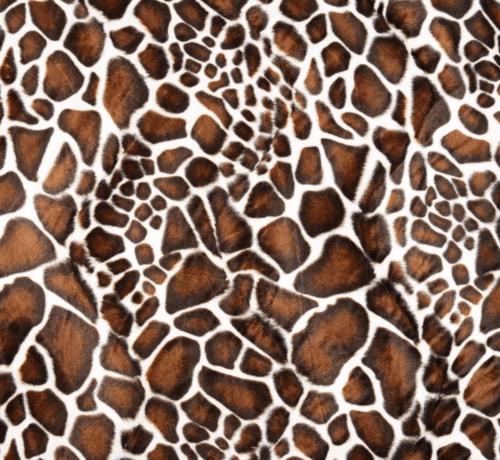 Decostoffen Giraffe velboa stof