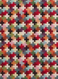 Multicolor kruisjes groot gobelin