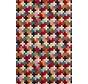 Multicolor kruisjes gobelin meubelstof groot