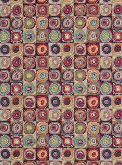 Multicolor dots gobelin