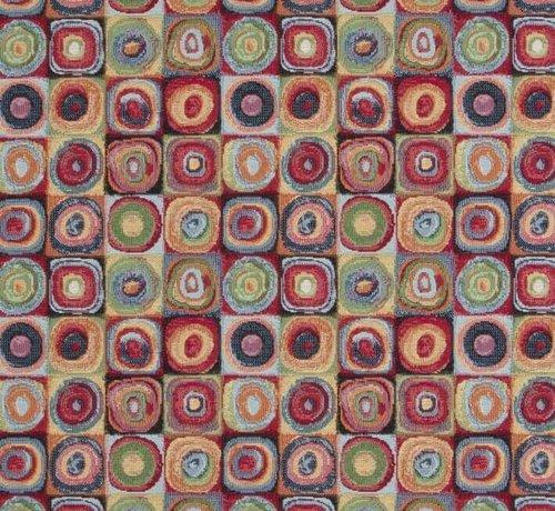Multicolor dots gobelin stof