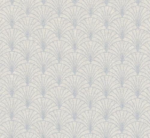Decostoffen Licht grijze linnenlook stof met zilveren lurex draad