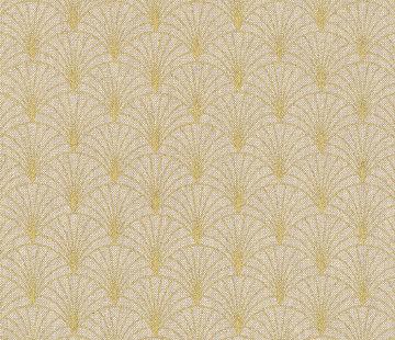 Decostoffen Lurex goud linnenlook