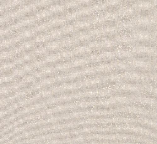 Decostoffen Basic gouden lurex linnenlook