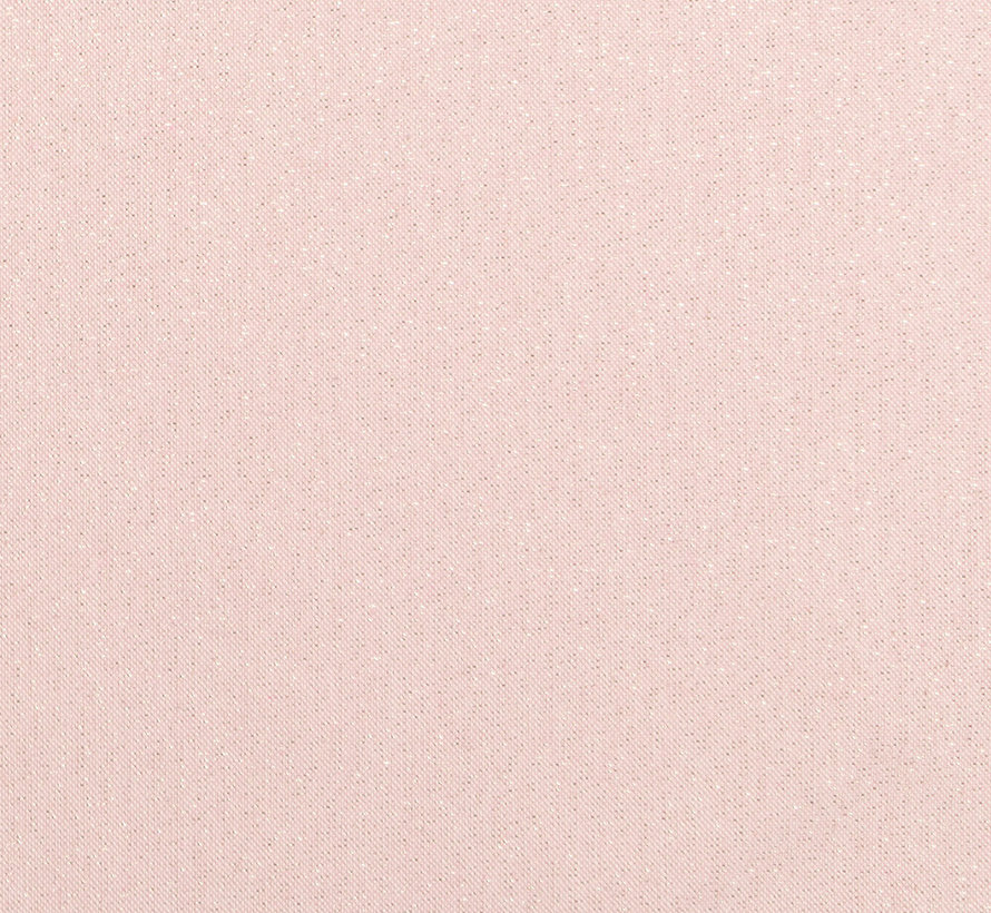 Peach linnenlook stof met gouden lurex draad