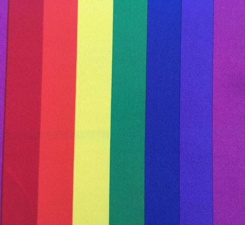 Decostoffen Decoratie stof met regenboog terlenka