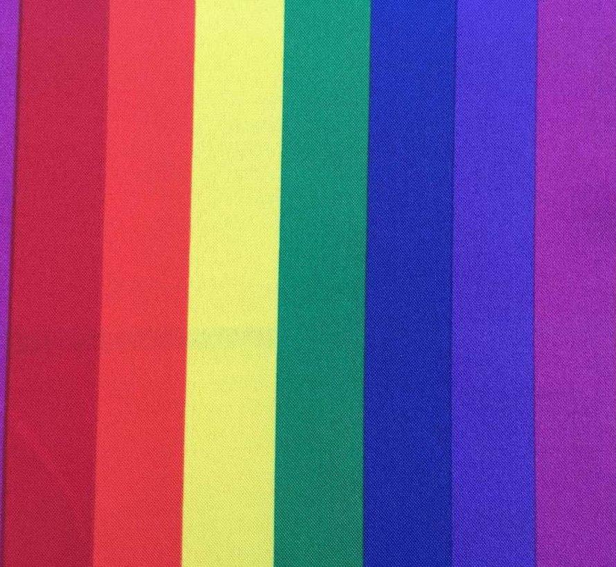 Decoratie stof met regenboog terlenka