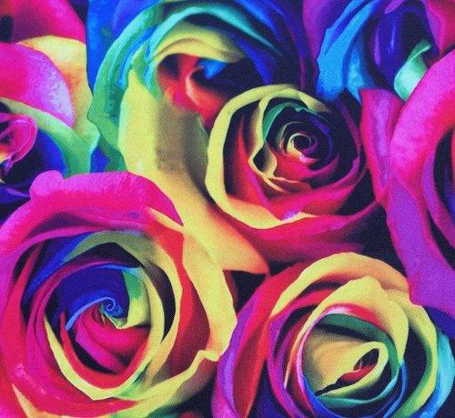 Decostoffen Gekleurde rozen - terlenka