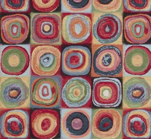 Decostoffen Multi color dots groot gobelin meubelstof