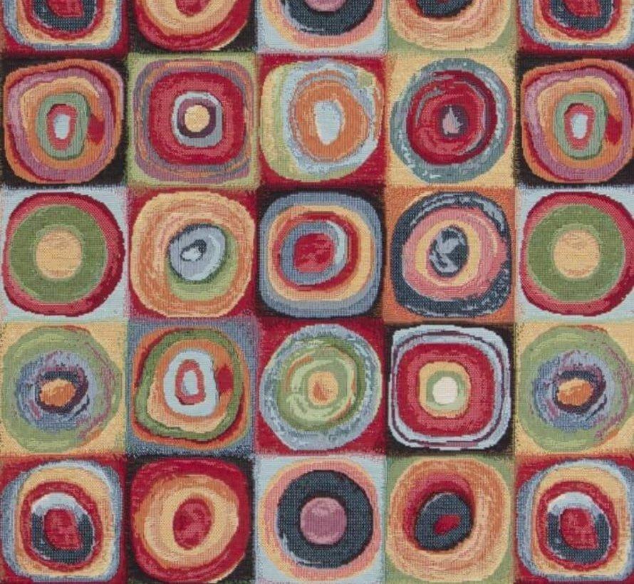 Multi color dots groot gobelin meubelstof