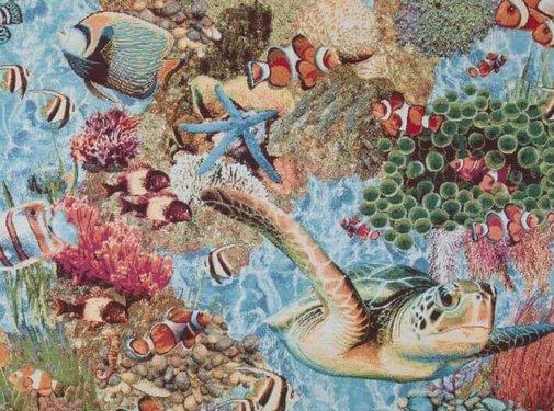 Decostoffen Tropische vissen gobelin
