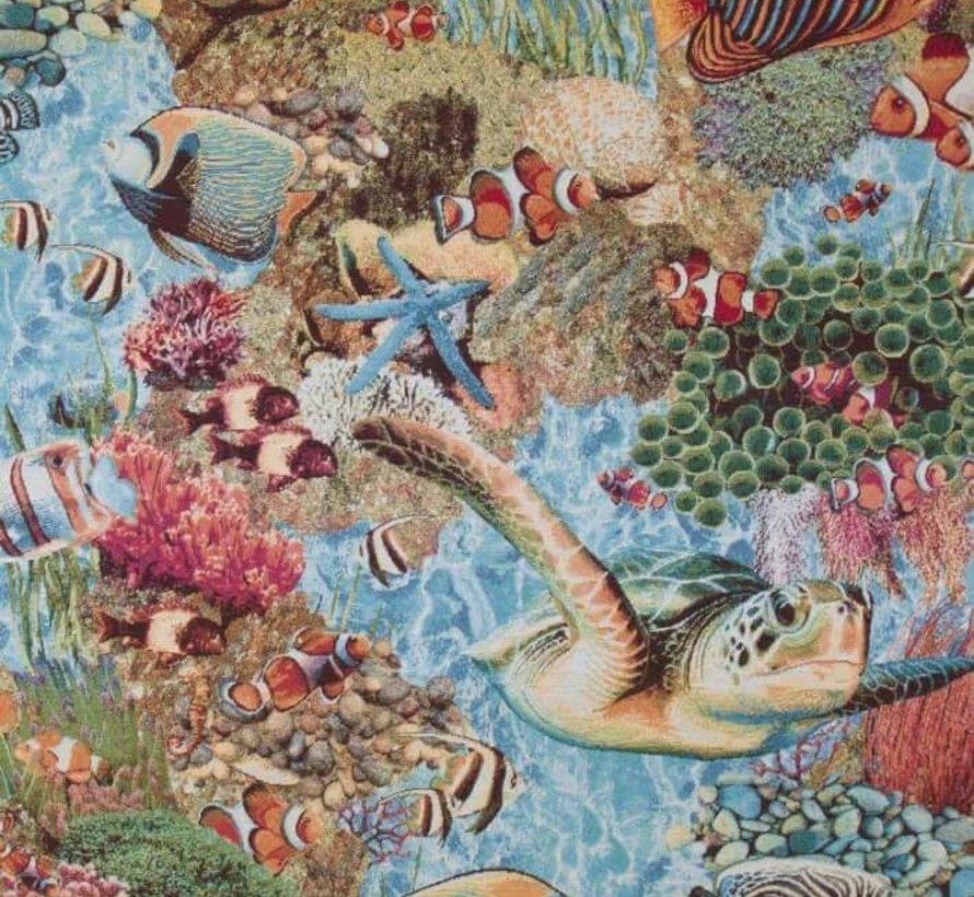 Tropische vissen gobelin meubelstof