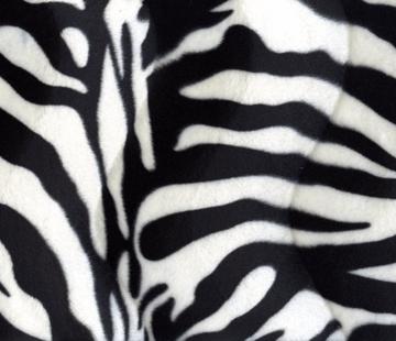 Decostoffen Zebraprint velboa