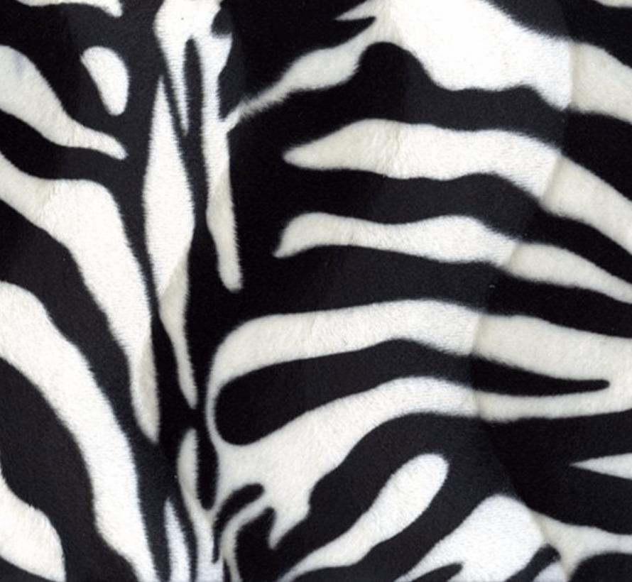Zebraprint velboa stof