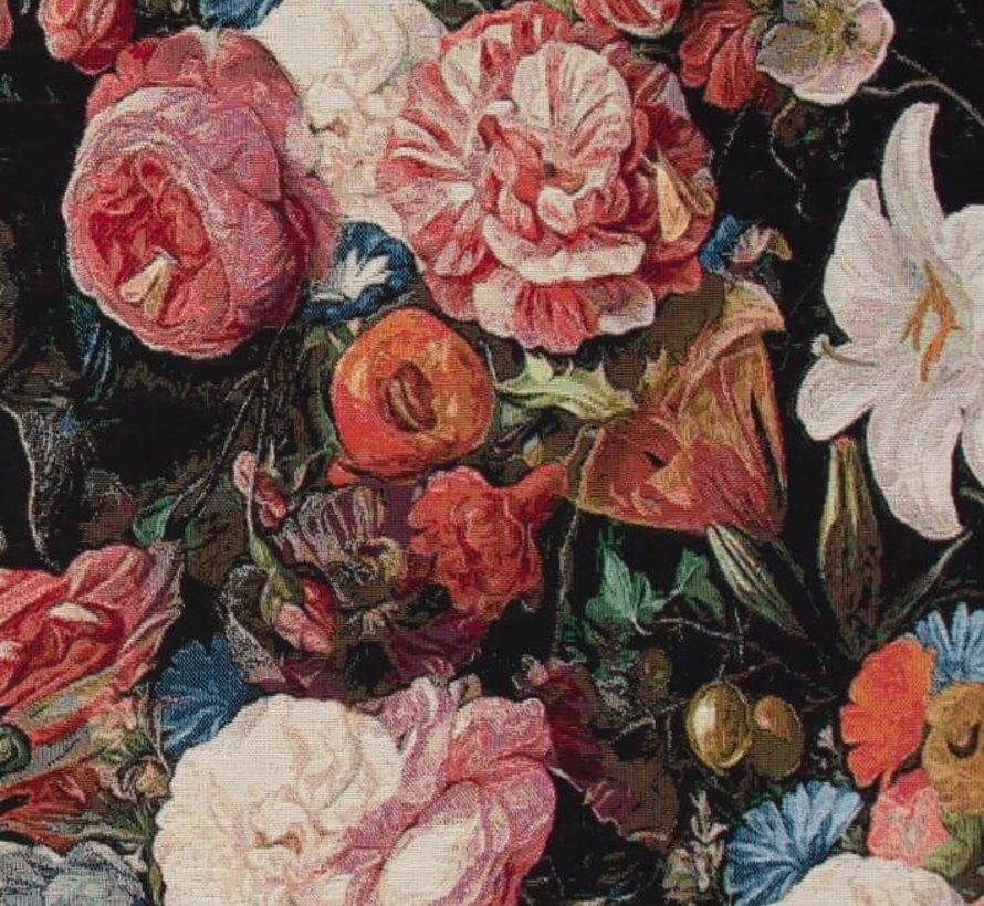 Bloemen & rozen print gobelin meubelstof